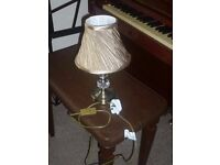Beautiful Lamp and Gold Shade for sale. Bought in Ireland, only a few months old- hardly used