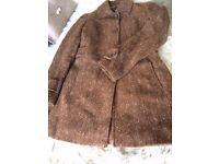 Ladies Jesire Brown Tweed Coat