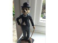 Meerkat Charlie Chaplin statue