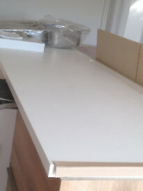 Wollens Extra large breakfast Bar worktop in Alpine White