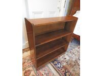 Vintage Solid Wood Slim Four Tier Display Shelves Bookcase