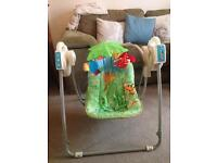 Baby swing / fisher price rein forest swing