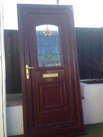 Rosewood upvc door