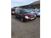Automatic 2005 Nissan tino only 81000 miles low mileage drives superb in metallic red any trial