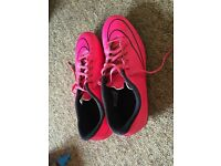 Nike Mercurial Pink Football Boots, Size Adult UK7