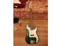 5 string electric bass guitar for sale fender squire precision bass