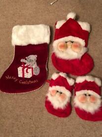 Christmas stockings x 4