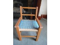 child's / toddler wooden chair