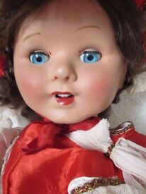 ORIGINAL 1950s OPEN MOUTH TALKING DOLL - LARGE 32 INCHES TALL