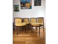 Mid Century Modern Set of 4 Danish Teak Chairs by Erik Buch for Ørum Møbler FREE LOCAL DELIVERY