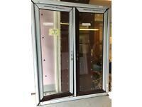 UPVC FRENCH DOORS ROSEWOOD/WHITE