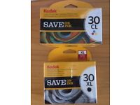 Unopened Kodak printer cartridges - 1 B&W, 1 colour set