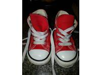 Red converse UK 6