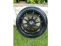 Wolfrace track ready pro-lite 18inch alloy wheels