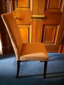 6 x Dining chairs (beige, faux suede)