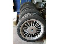 4 BMW alley wheels tyres