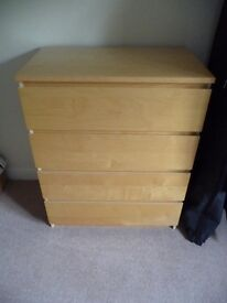 IKEA 4 DRAWER CHEST OF DRAWERS