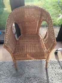 Wicker chair very good condition