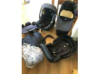 Joie 3 in 1 car seat, pushchair and pram