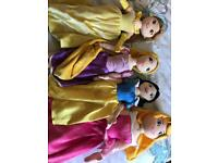 5 x Disney princess plushes