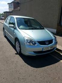 Honda Civic 1.6 2005 Petrol For Sale Full Service History Two owners