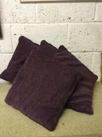 4x purple cushions