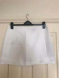 TOPSHOP Size 14 White Mini Skirt with Tags