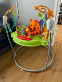 Jumperoo and floor seat fisher price