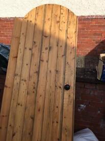 Solid hand made pine door