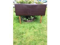 Double Headboard Brown Leather