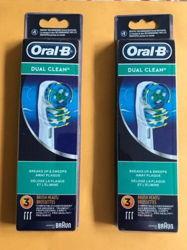 2 PACK - 6PCS= 13.99$ - ORAL-B DUAL CLEAN TOOTHBRUSH REPLACEMENT HEAD