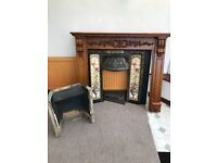 Cast Iron Tiled Victorian Fireplace
