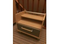 Bedroom bookcase, drawers and bedside table. All great quality!