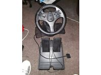 Steering wheel & pedals for playstation