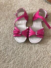 Pink size 3 next sandals