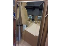 "large mirror silver 65"" x 31"",free local delivery"
