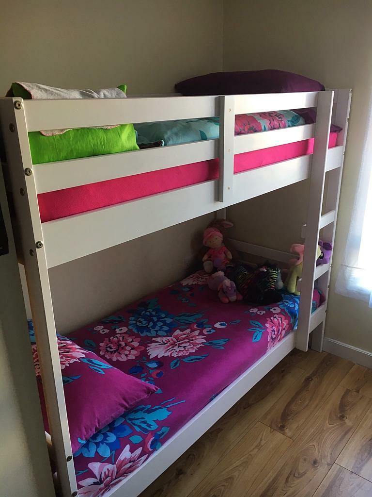 SOLD!!!!! HOUSE CLEARANCE! White bunk bed + matresses | in ...