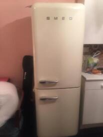 Large smeg fridge and freezer