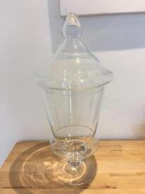 Large Vintage Glass Apothecary Jar