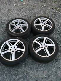 "Toyota celica rims and tyres ""17"" inch"