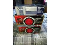 Sony xplod 1200 watts free air subs with alpine amp