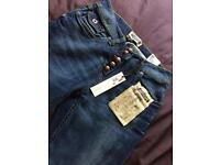 Brand new crafted jeans cost £35