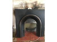 Fireplace cast iron surround