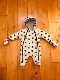 SNOW SUIT/ALL IN ONE ..0-3 MONTHS