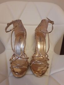 Beautiful rose gold shoes