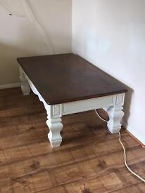 Solid pine coffee table delivery available £100