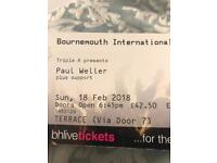 Paul Weller tickets x4 BIC Sunday 18th February
