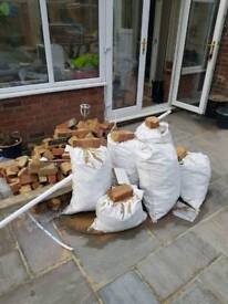 Free rubble, hardcore and wood (floorboards)