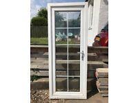 10 pane external glazed door with satin chrome handle