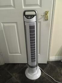 Seville Classics Energy Saving Tilt Tower Fan with remote